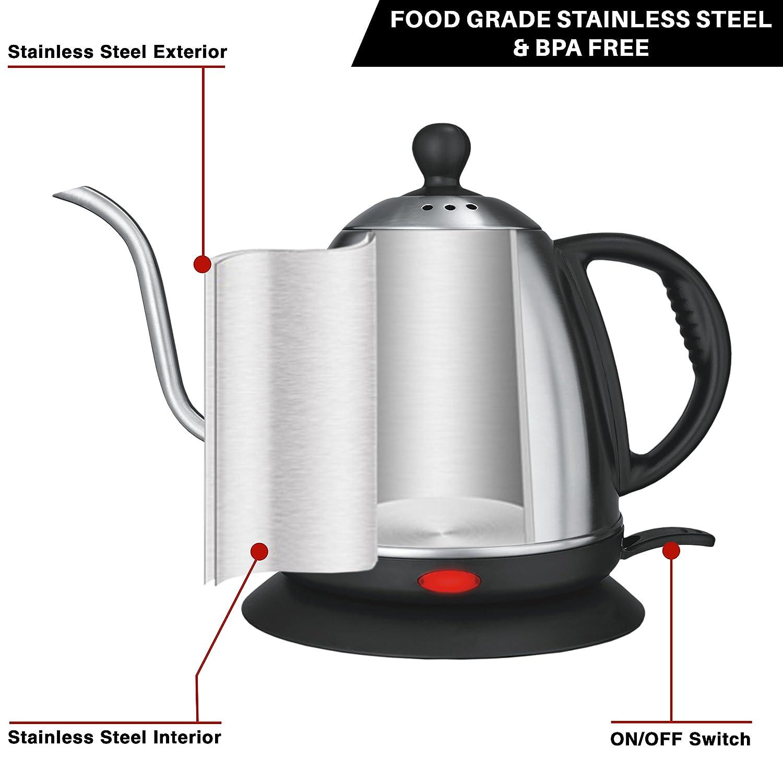 Stainless steel kettles - elegant tableware