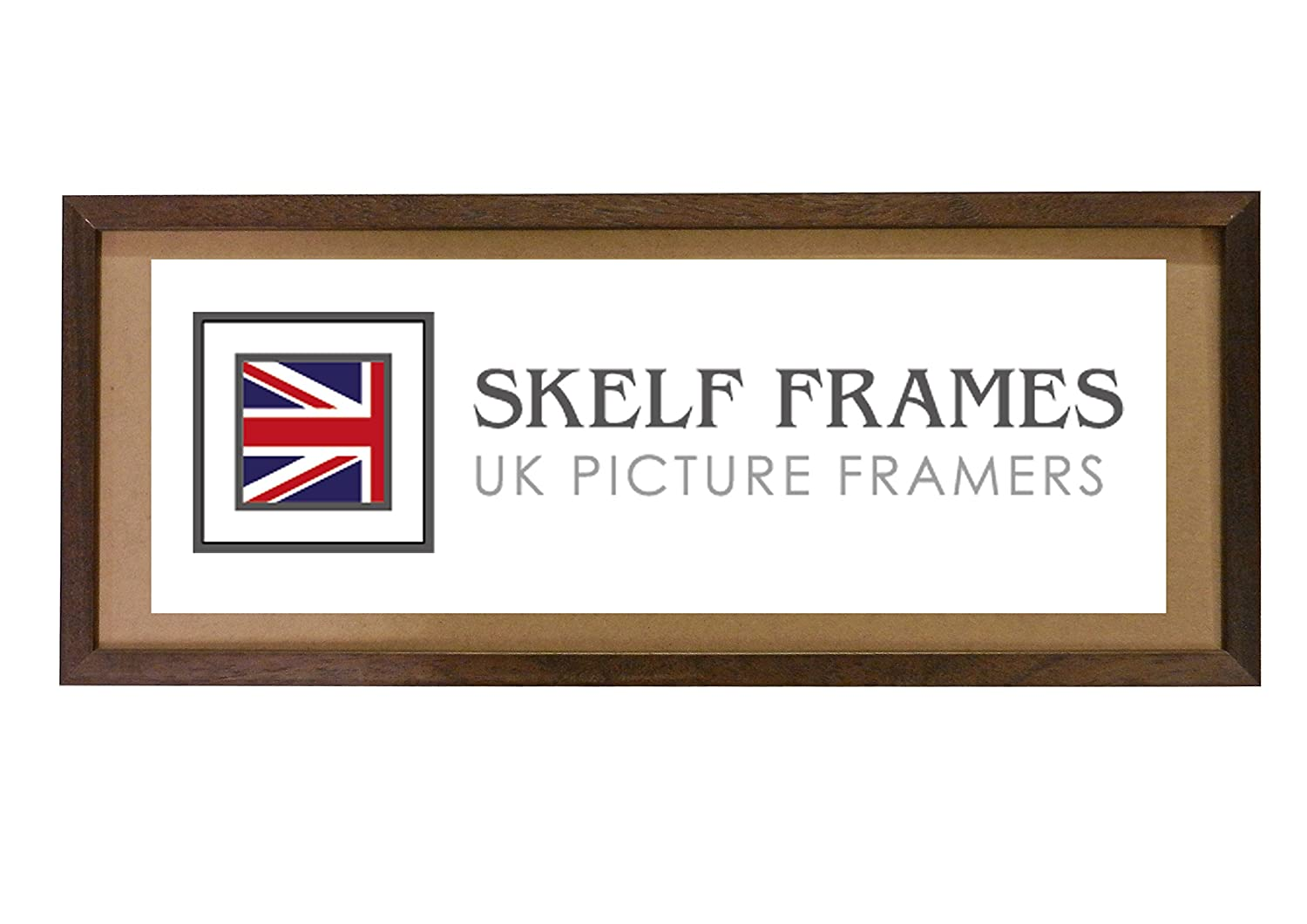 20x12 PANORAMIC PICTURE PHOTO POSTER WOOD FRAME (Phoenix Dark Brown) SKELF FRAMES LTD