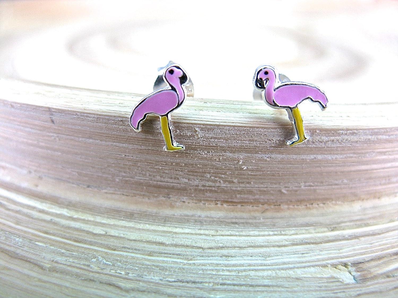 FaithOwl Flamingo 925 Sterling Silver Stud Earrings