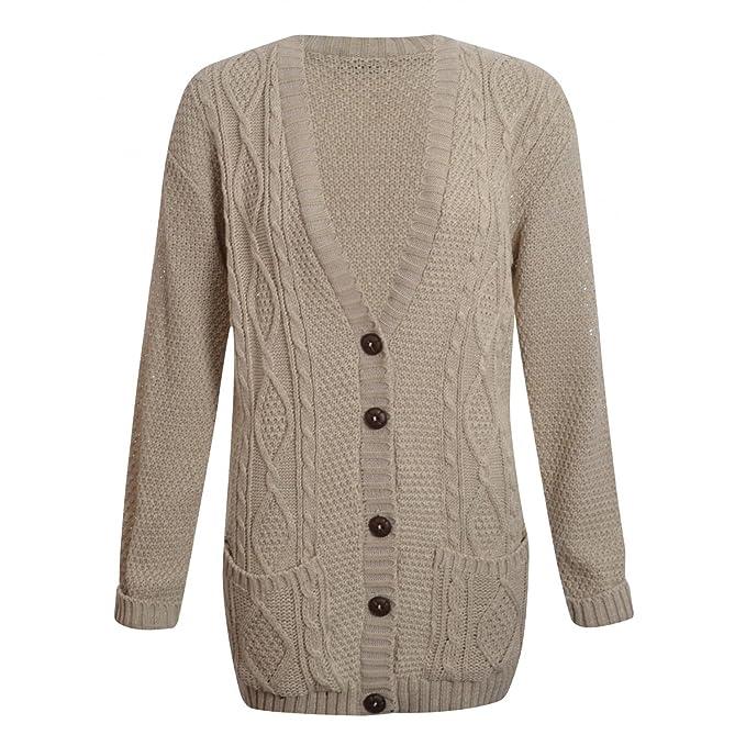 Para mujer Cable botón de patrones para coser ovillo de funda de ...