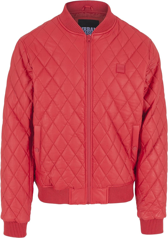 Urban Classics Jacke Diamond Quilt Leather Imitation Jacket Chaqueta para Hombre