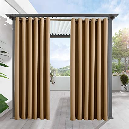 Outdoor Curtains For Patio FirstHomer Privacy Outdoor Blackout Grommet  Drape For Porch,Gazebo,