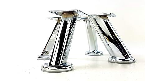 Knightsbrandnu u gambe mobili piedi mobili in metallo cromata