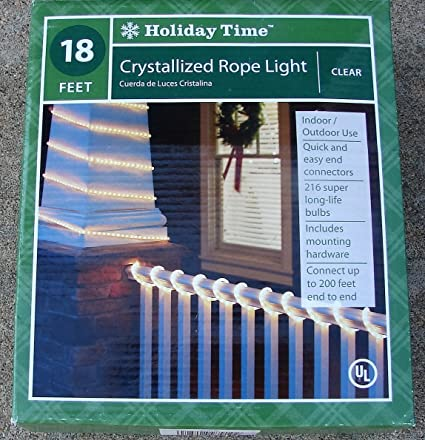 Holiday time 18 clear crystallized rope light amazon home holiday time 18 clear crystallized rope light aloadofball Gallery
