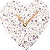 Orologio da parete a forma di cuore Florella fiore orologio a batteria