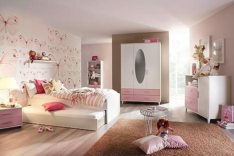 lifestyle4living Jugendzimmer in strahlendem weiß mit ...
