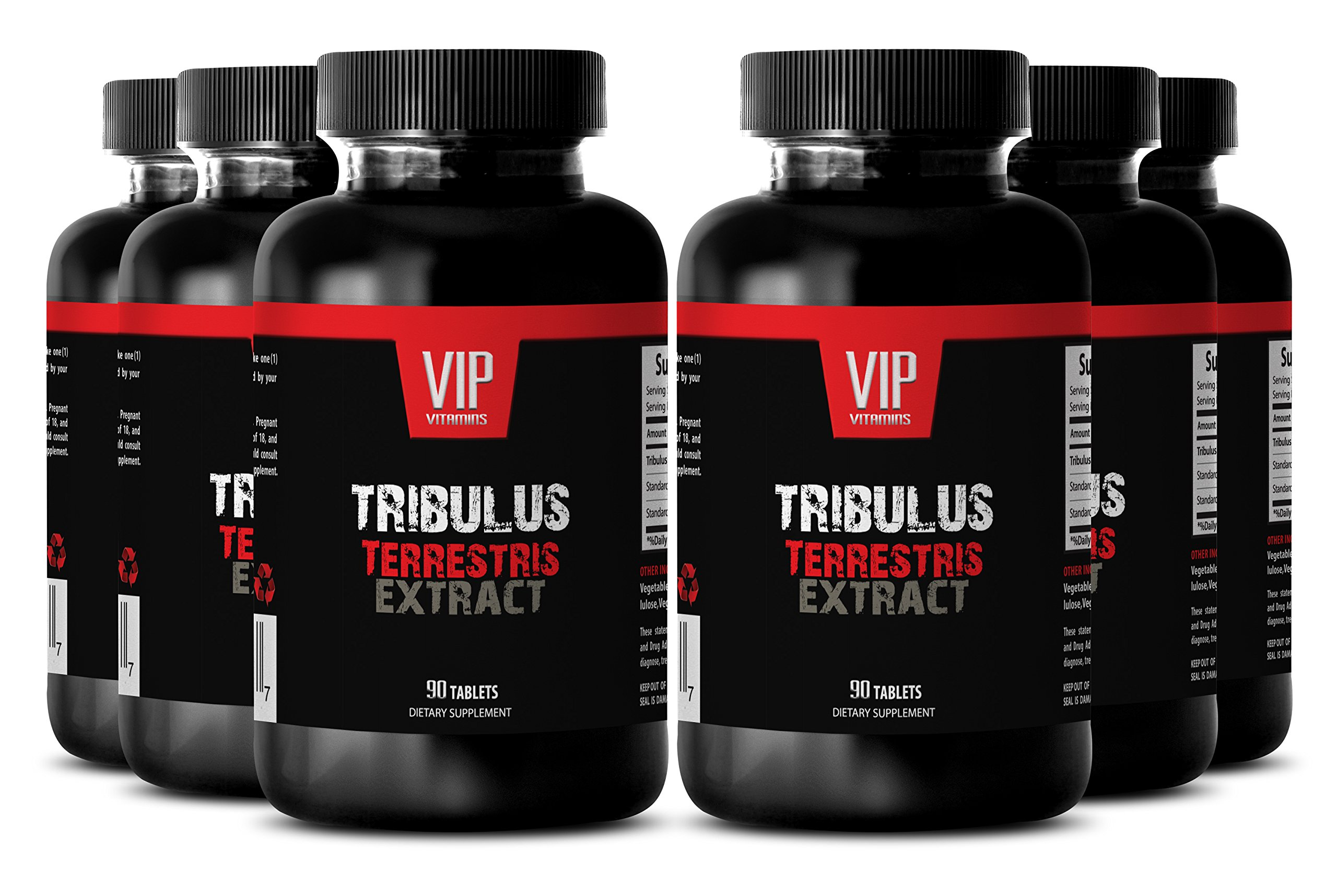 King Size Male Enhancing Pills - TRIBULUS TERRESTRIS PREMIUM EXTRACT 1000mg - Natural tribulus testosterone booster - 6 Bottles 540 Tablets