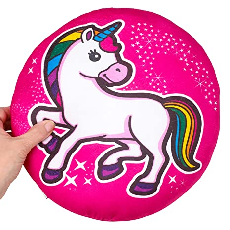 Amazon.com: Kicko UNICORN PILLOW - 12.0 in DIA PLUSH PILLOW ...