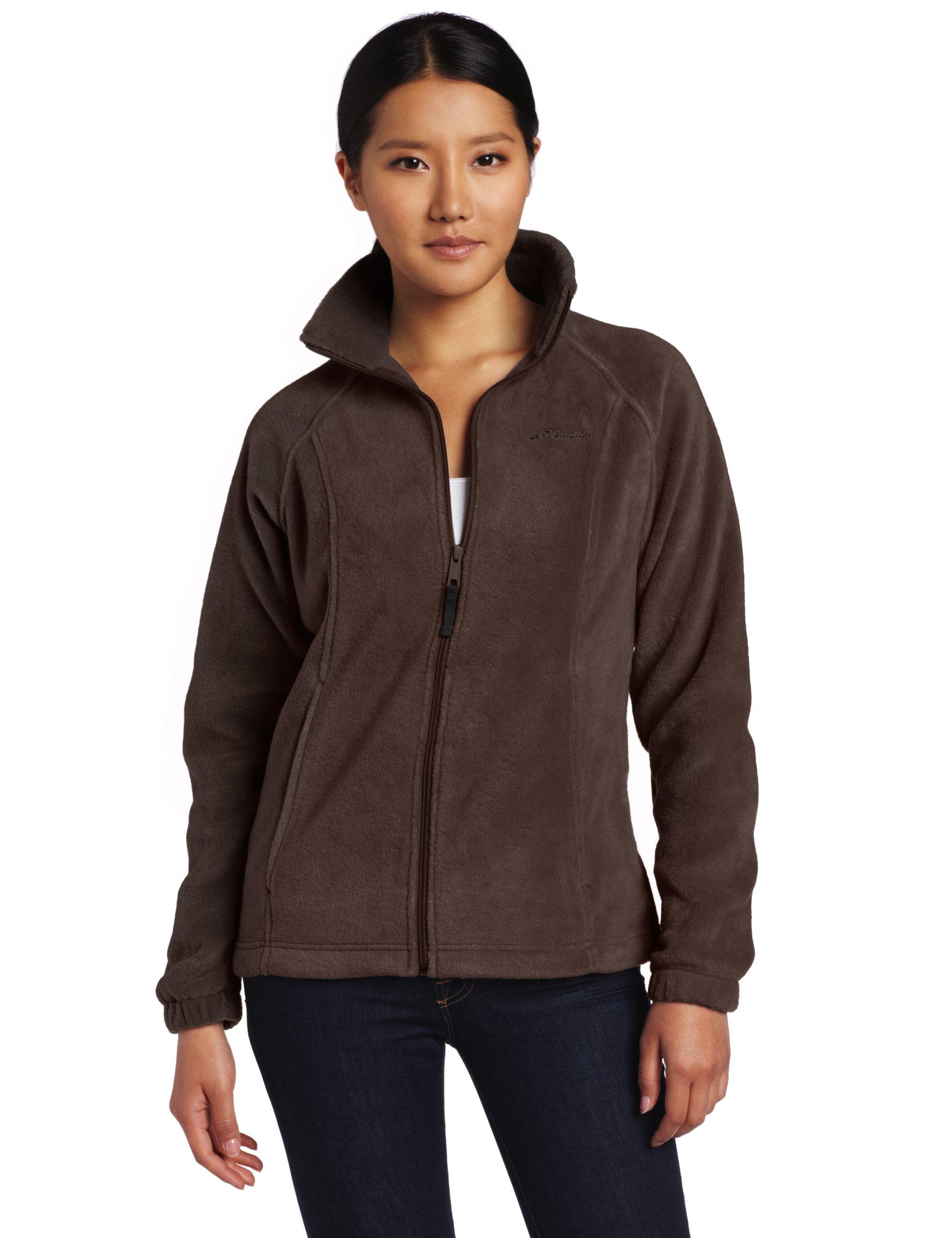 Columbia Women's Benton Springs Classic Fit Full Zip Soft Fleece Jacket, Bark, X-Large