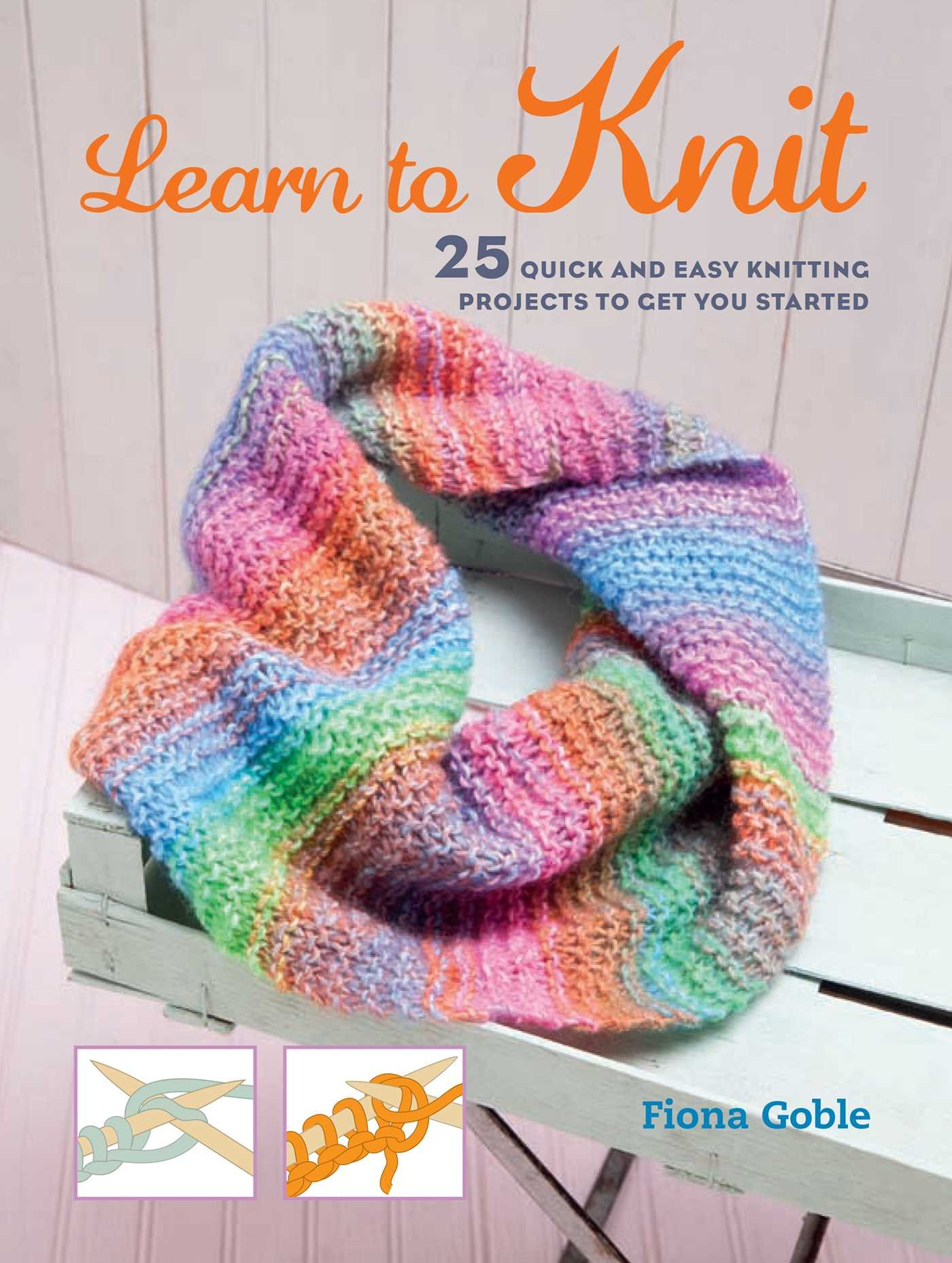 How to learn to knit 33
