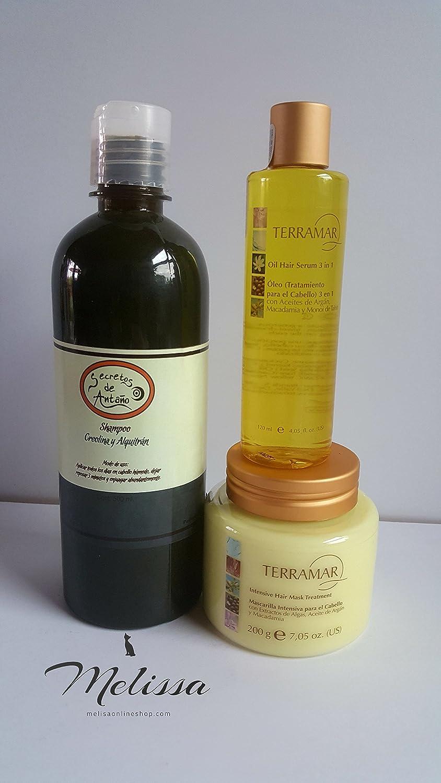 Amazon.com : Kit Shampoo Creolina +Terramar Oleo+ Mascarilla ...