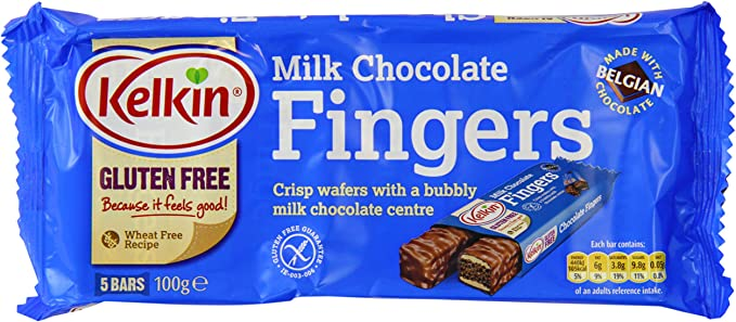 Kelkin Chocolate Fingers (Pack of 4): Amazon.es: Alimentación y ...