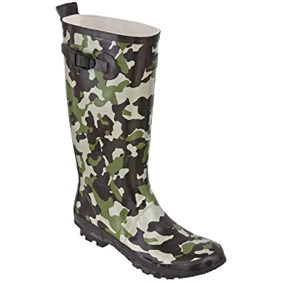 Trespass Trespass Mens Fighter Camouflage Wellington Boots Green Camo Sales Promotion