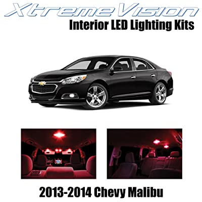 XtremeVision Interior LED for Chevy Malibu 2013-2014 (5 Pieces) Red Interior LED Kit + Installation Tool Tool: Automotive