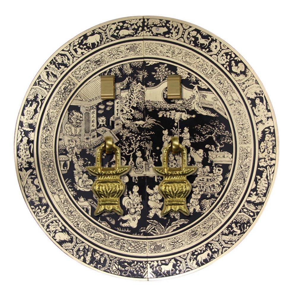 Klopfer,Im chinesischen stil t/ürklopfer Klassische schrankt/ür griff Ming und qing kupfer m/öbelbeschl/äge Schrankt/ür antiken griff 18cm-O