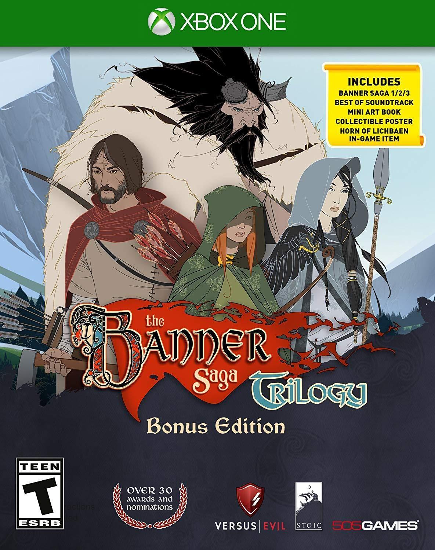 Amazon Com Banner Saga Trilogy Bonus Edition Xbox One 505 Games Video Games