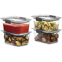 4-Pack Rubbermaid Brilliance 4.7 Cup Food Storage Container