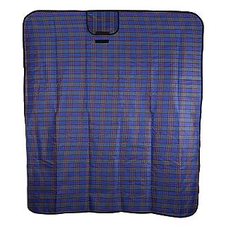 Wenquan,Colchoneta Plegable a Prueba de Humedad 51 x 59 Pulgadas de acrílico Manta de Picnic al Aire Libre(Color:Azul)
