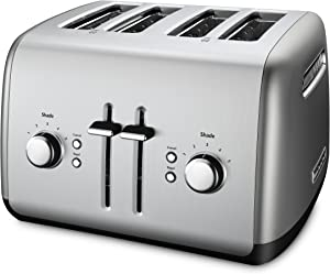 KitchenAid Kmt4115cu 4-Slice Toaster with Manual High-Lift Lever, Contour Silver