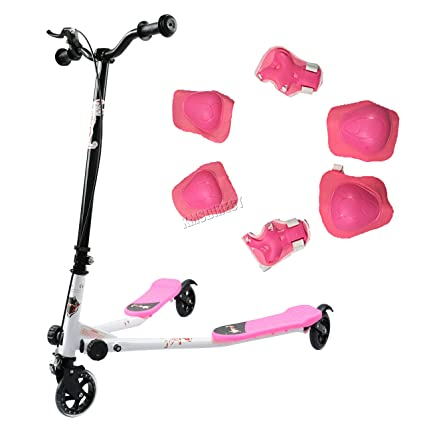 KMS FoxHunter Pink Mini Tri Push Scooter Swing Trike Slider ...