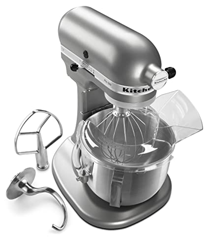 Elegant KitchenAid KSM500PSSM Pro 500 Series 10 Speed 5 Quart Stand Mixer, Silver  Metallic