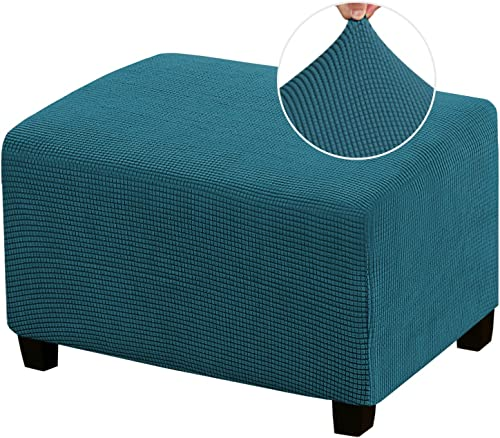Stretch Ottoman Cover Ottoman Slipcovers Rectangle