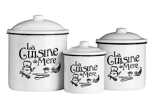 2 opinioni per Premier Housewares 0509886 La Cuisine De Mere Set di 3 Barattoli, Metallo,