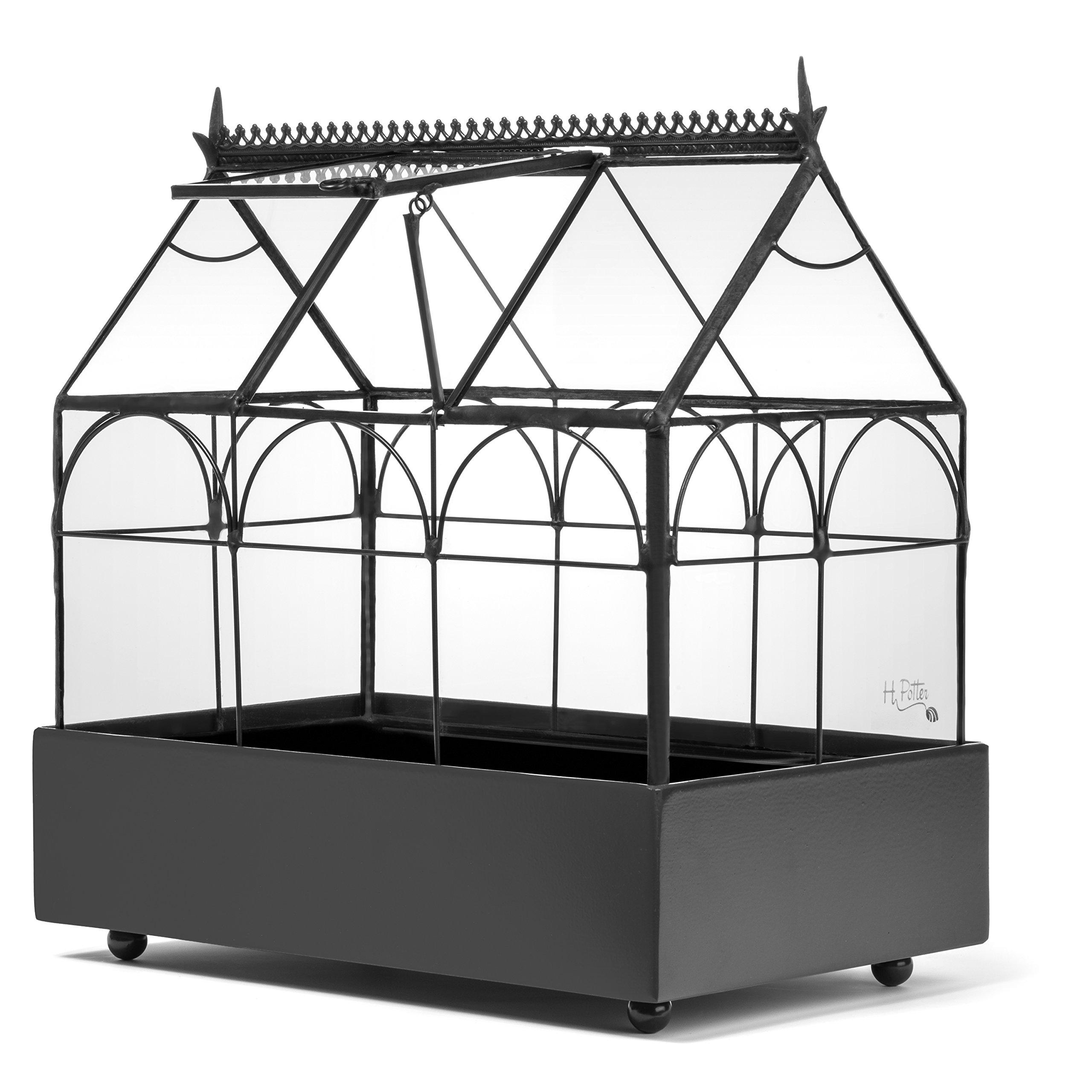 H Potter Plant Terrarium Container Wardian Case Indoor Glass Succulent Planter 65-1