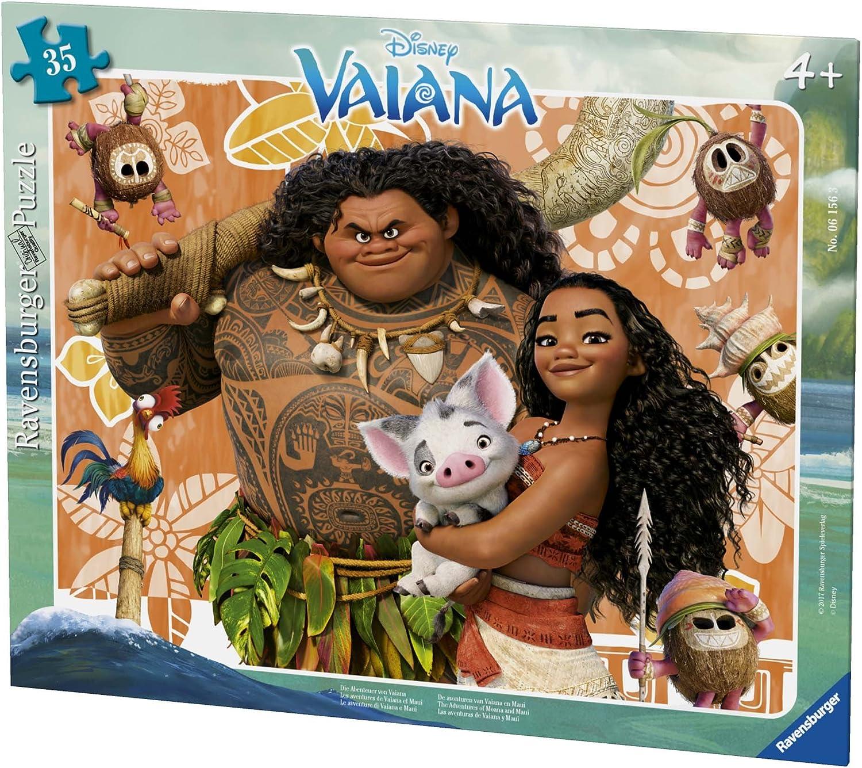 Ravensburger – Puzzle Marco Aventuras Vaiana y Maui 35 Piezas, 06156: Amazon.es: Juguetes y juegos