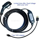 Maxx-16 Electric Vehicle Charger (220V-240V) with nema 6-20 plug - 28 ft long - Level 2 - 16 amp Electric Car Charger - J1772 - EVSE - Color: Dark Gray