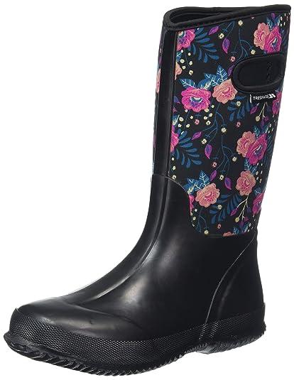 a7ab3359e75 Amazon.com   Geraldine Womens Full Length Wellies Festival Floral ...