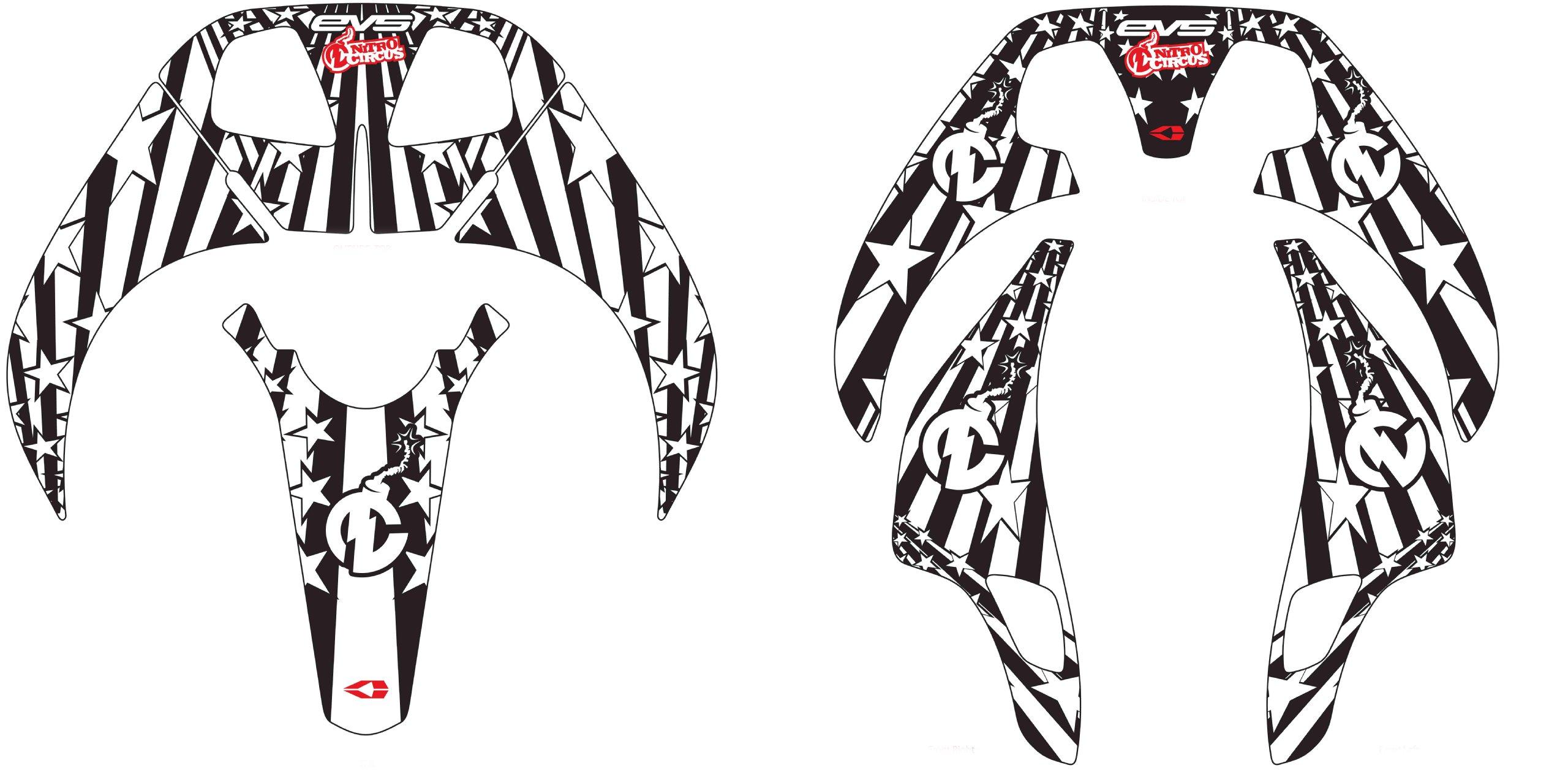 EVS Sports RC EVO Graphics Kit (Nitro Circus, X-Large)