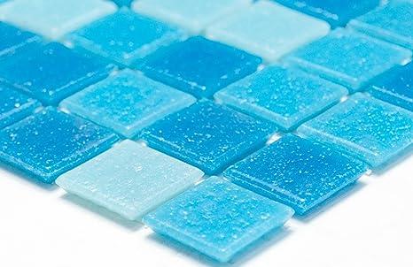 Piastrelle mosaico quadrato mix di rete azzurro blu mosaico di