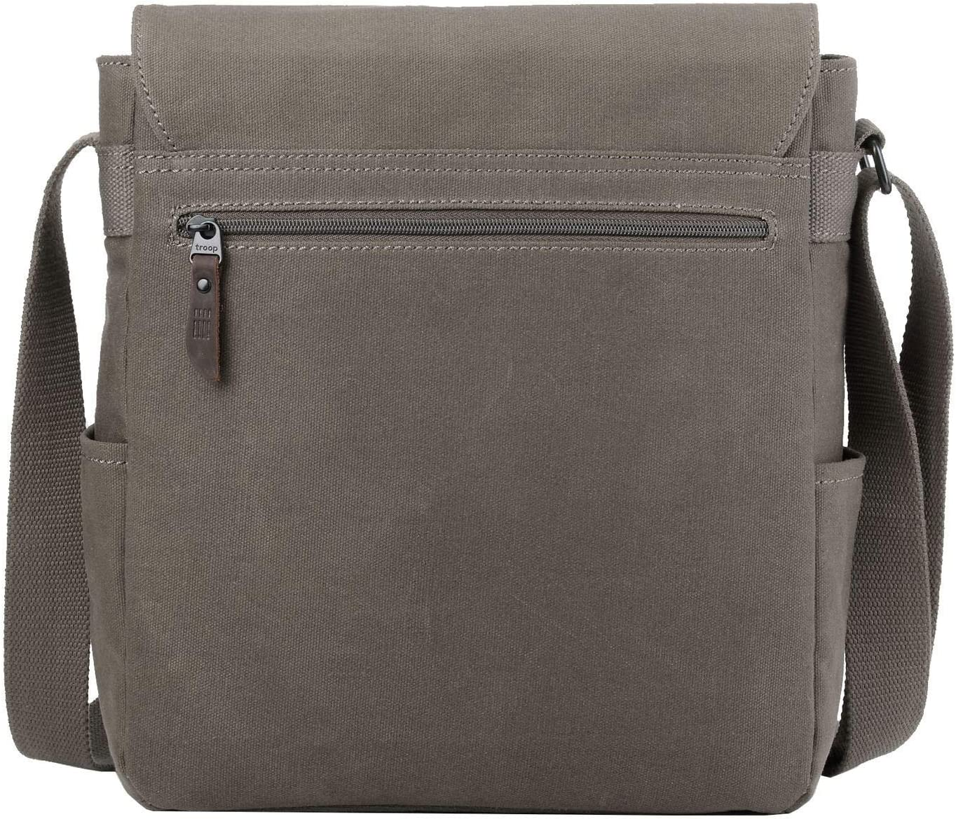 Canvas Bag for Travel and Work ║H32 X W30 X D15CM Tablet Friendly TRP0490 Troop London Heritage Canvas Leather Messenger Bag