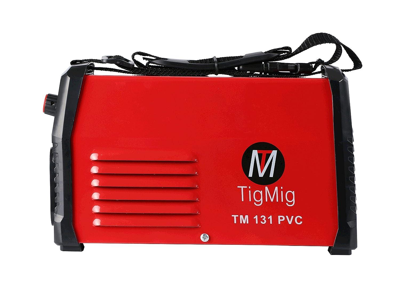 TM 131 PVC - Soldadora Inverter MMA, electrodo de 130 A, maletín de PVC y accesorios incluidos: Amazon.es: Amazon.es