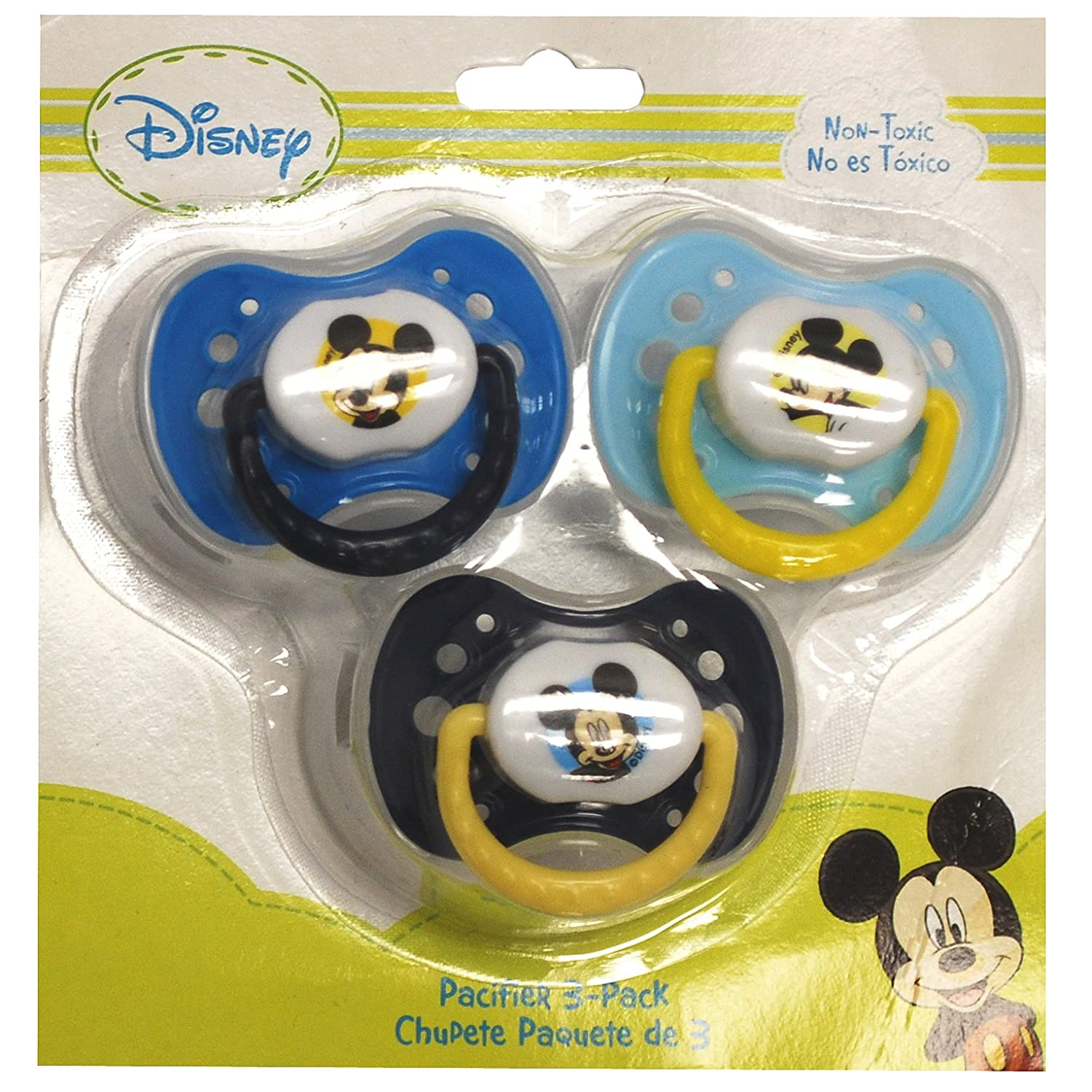 Disney Mickey Mouse Pacifier 3 Pack (Blue)