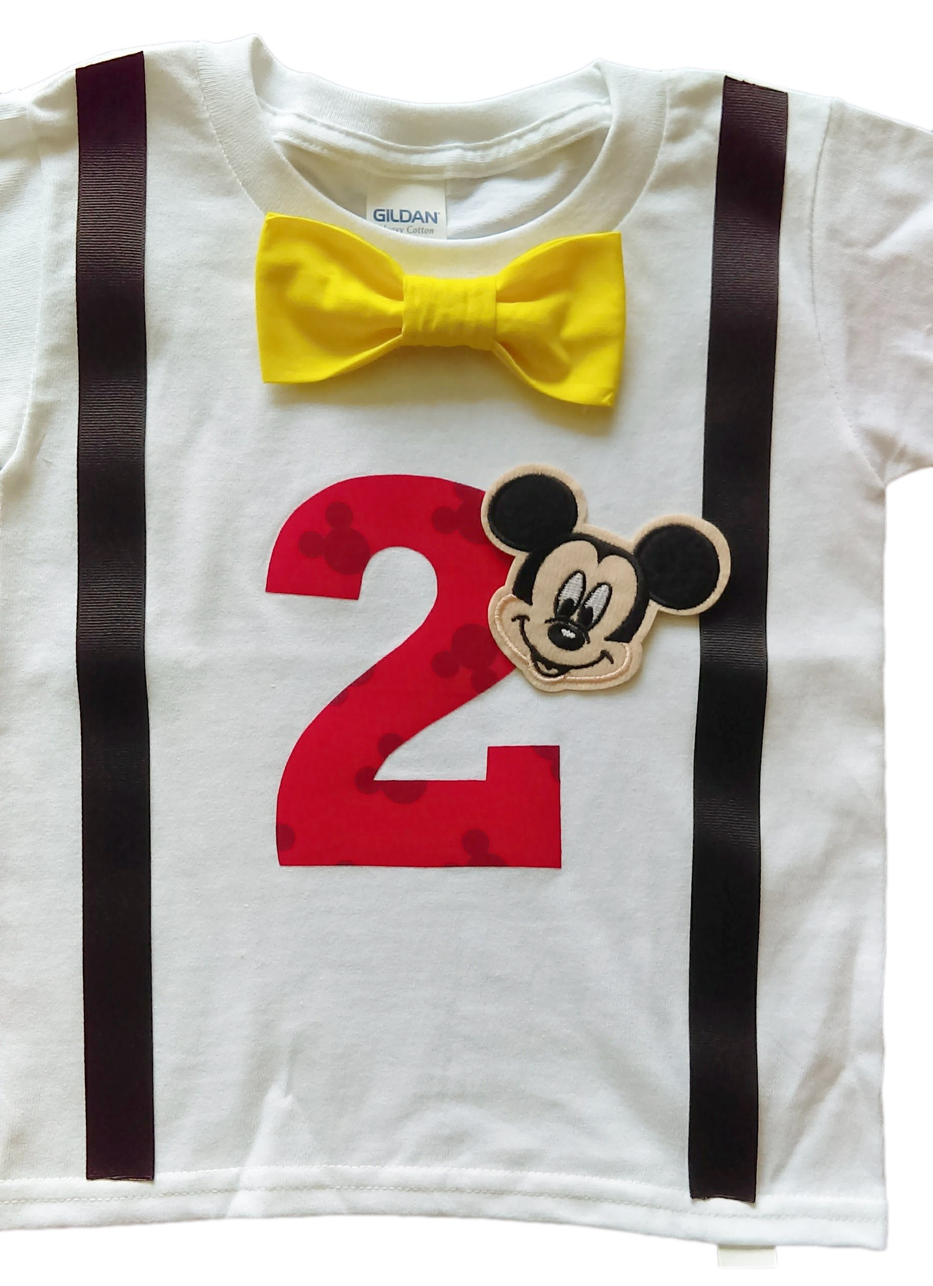 2nd Birthday Shirt Boys Mouse Tee - Yellow(2T Short Sleeve) by Perfect Pairz