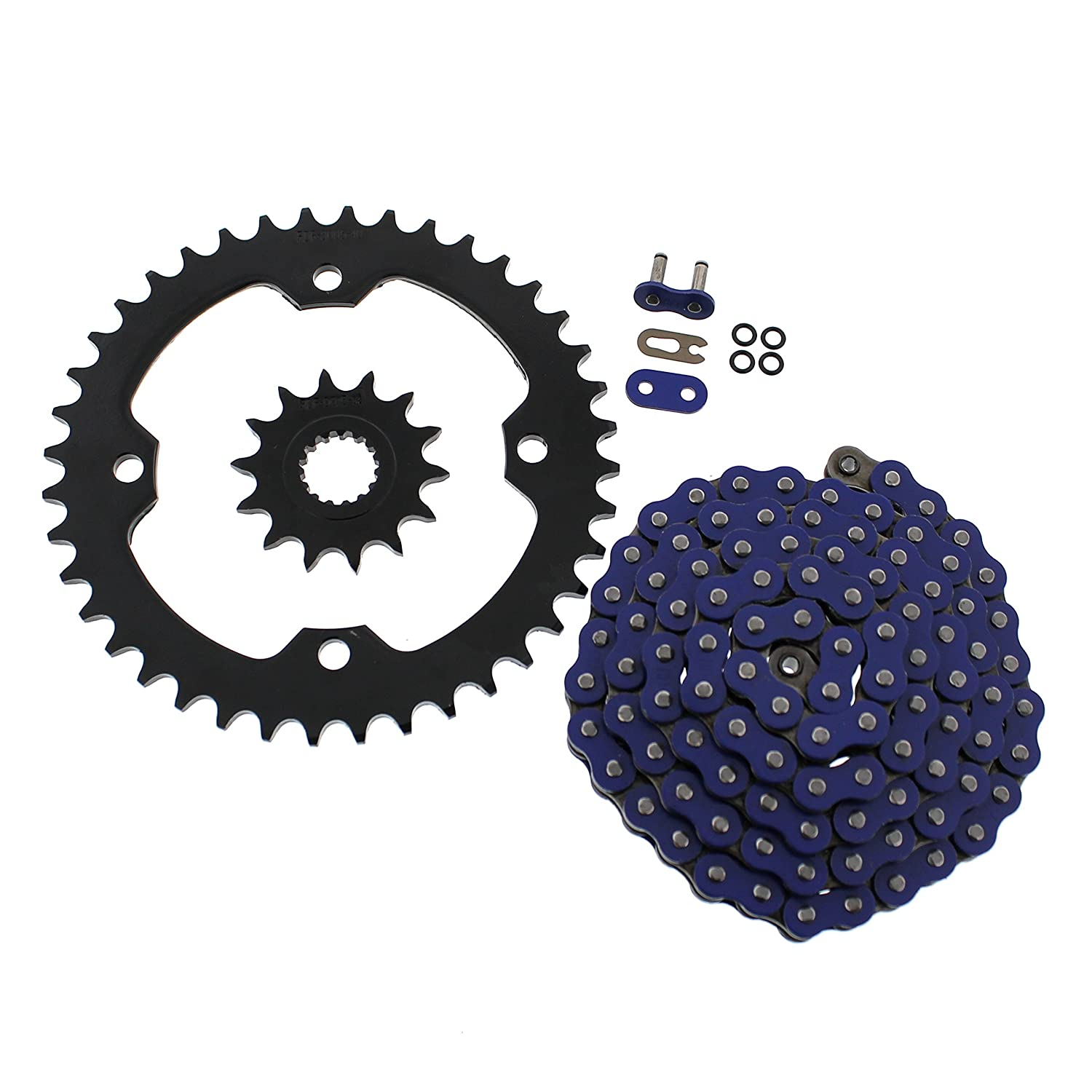 06-2009 Yamaha YFM700 700 Raptor Blue O-Ring Chain & Black Sprocket 15/40 102L Race-Driven