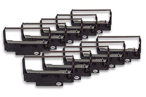vhbw 10x Cinta de Tinta mecanográfica de Nailon para Impresora matricial/Agujas Hyundai HD 7000