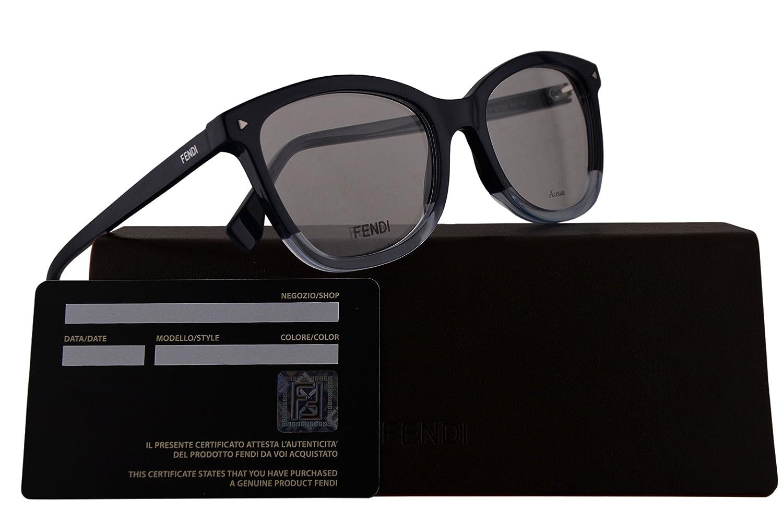 1d36692f2ad Amazon.com  Fendi FF0234 Eyeglasses 52-18-140 Blue w Demo Clear Lens PJP FF  0234  Clothing