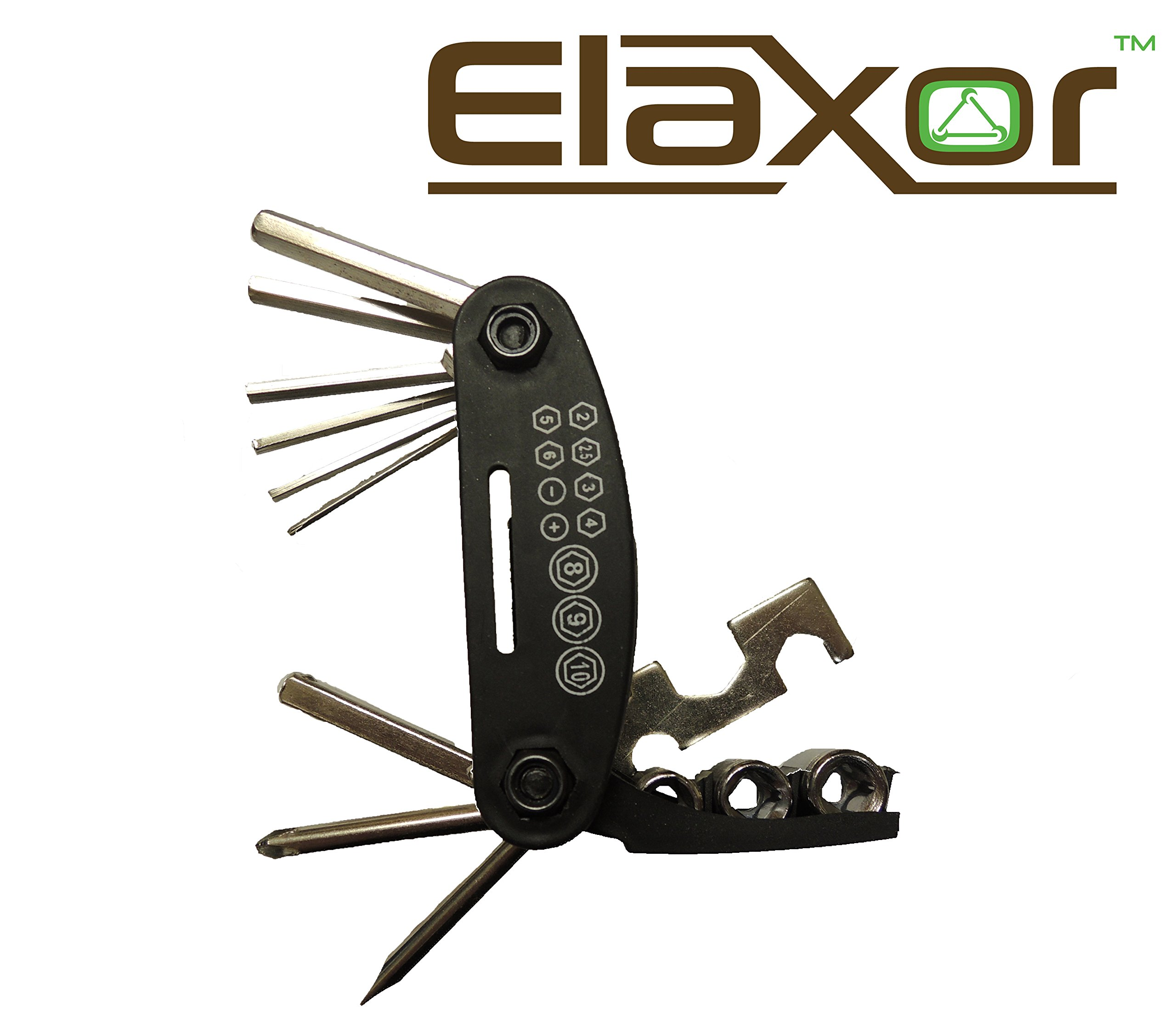 Elaxor™ 16-Multi Function Bike, Bicycle, Cycling Mechanic Tool Kit Set. For Repairing Bike Bicycle Fast, Easy & Efficient by Elaxor™ (Image #5)