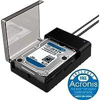 Sabrent USB 3.0A SATA disco duro externo lay-flat estación de acoplamiento para 2.5o 3.5in HDD, SSD [compatible con UASP] (ec-dflt)