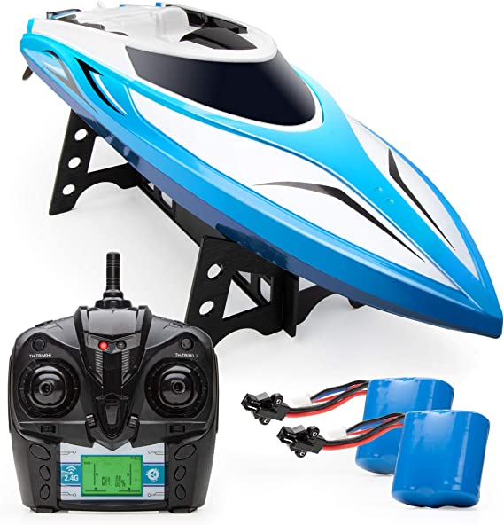 Force1 Velocity RC Boat - H102 Remote Control Boat for Pools and Lakes