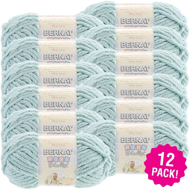 Bernat 97661 Baby Blanket-12/Pk-Seafoam, 12/Pk Seafoam Pack