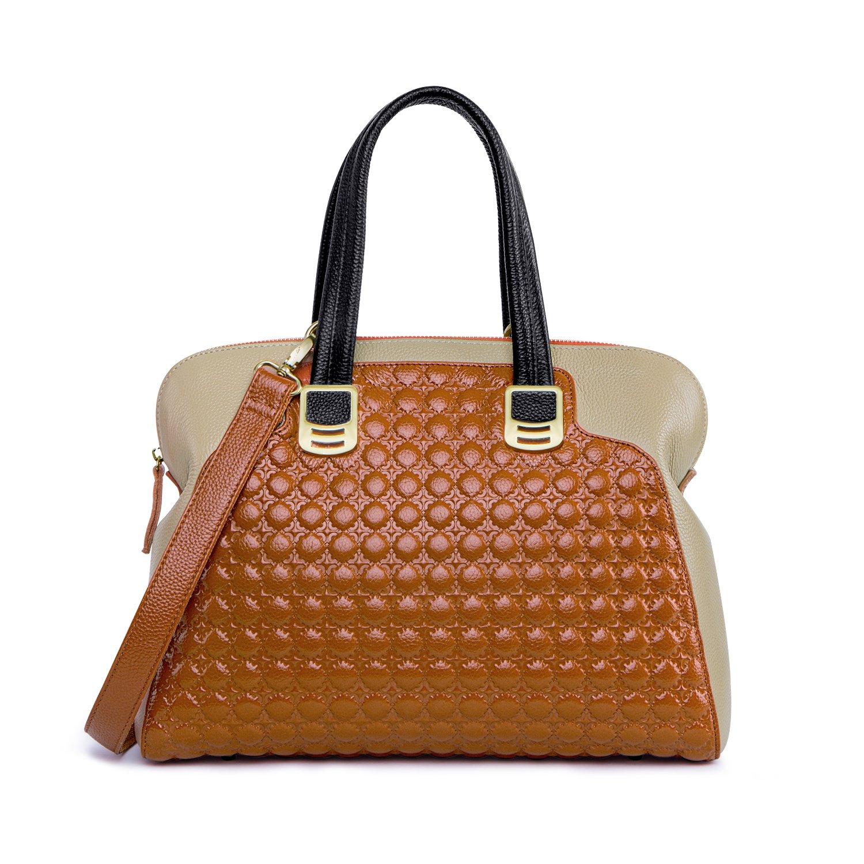 c88683d85bbe ZOOLER GLOBAL Genuine Leather Handbags for Women Slim Shoulder Bags Purse  Brown