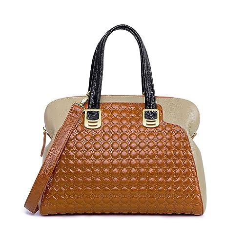 c4956e7040 ZOOLER Genuine Leather Handbags for Women Slim Shoulder Bags Purse Brown