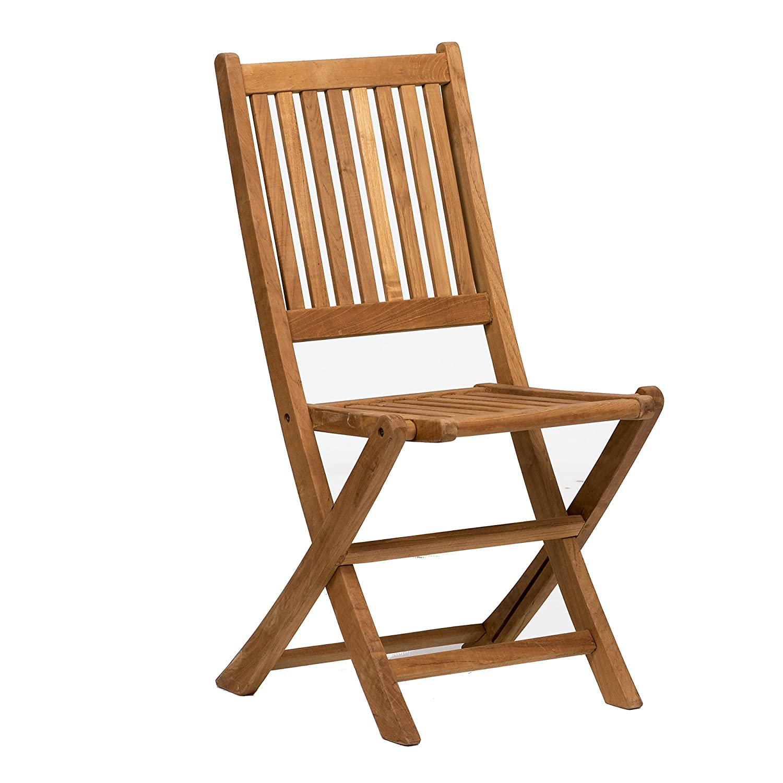 Amazon Amazonia Teak London 2 Piece Teak Folding Chair