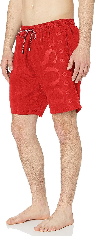 Hugo Boss Men's Long Length Quick Dry Swim Trunks |