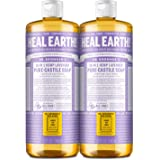 Dr. Bronner's - Pure-Castile Liquid Soap (Lavender, 32 ounce, 2-Pack) - Made with Organic Oils, 18-in-1 Uses: Face, Body, Hai
