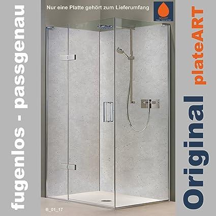 Original Plateart Rückwand Dusche Alu Ohne Fugen Eck Duschrückwand